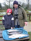 Trout Match winner Robert Evans with best Trout of the day at 5 1/4lb
