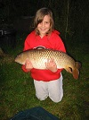 A lovely 14 1/2lb Common from the Main Lake caught 10yr old Lulu Mooney of Chester