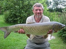 A 15lb Gras Carp caught by local angler Mike Keeling on floating bread