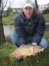 A photograph of Nick with a linear Mirror from the Main Lake