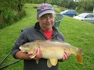 A photograph of 11.5lb Mirror carp that was caught from the House Pool