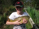 youngster Joshua Buck of Newcastle Emlyn with a 6lb fully scaled Mirror from the Novices Pool