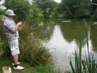 Young master Moggsy from Llanelli showing how to fly fish for Carp