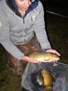 Mark with a lovely 2lb Common Carp. He had several of them