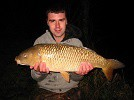 Large Common Carp caught by a local angler 'Mark' on sweetcorn after a hard fight