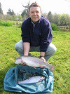 Postmaster Mike with some lovely Trout